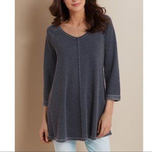 Soft Surroundings S Logan Tunic French Terry NEW